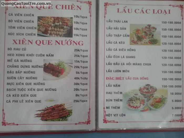 Quán ăn + nhậu giá bình dân đường Trường Chinh