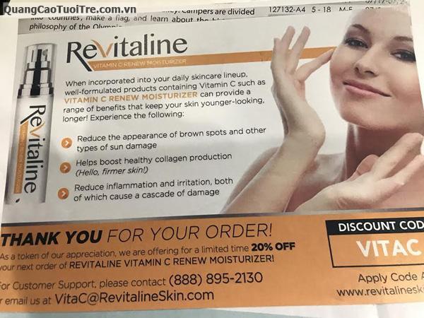 Độc quyền sản phẩm ReVitaline sản xuất tại Hoa Kỳ