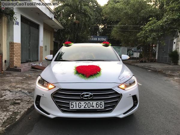 Cho thuê xe cưới Huyndai Elentra đời 2016