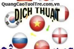 Chuyên dịch thuật  tiếng ANH - HOA - HÀN - NHẬT - PHÁP