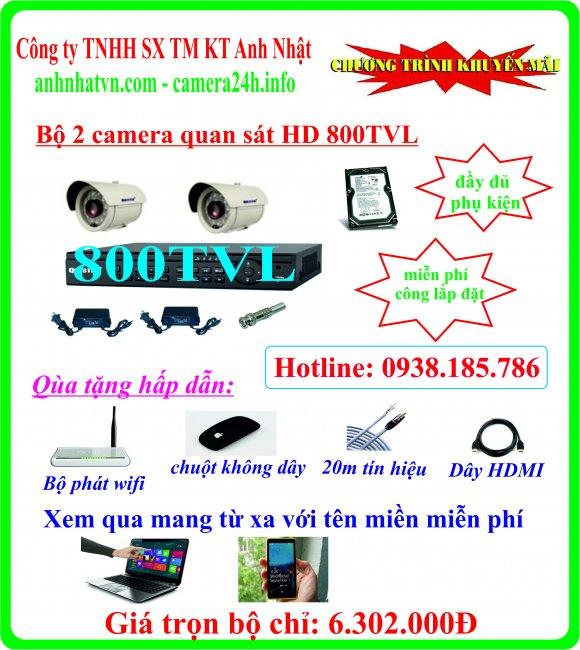 Chuyên phân phối lắp đặt hệ thống camera an ninh