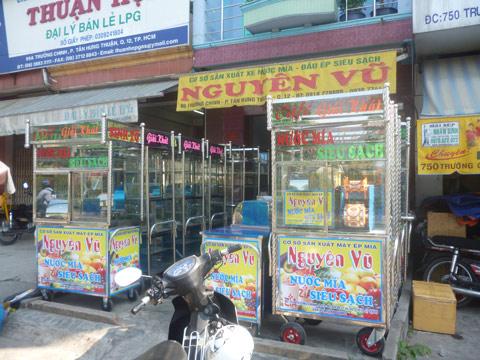 Cty TNHH SX TM Nguyên Vũ chuyên sản xuất cung cấp xe nước mía siêu sạch