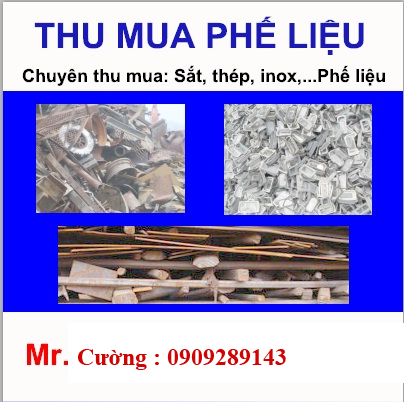 Dịch vụ thu mua phế liệu giá cao tại TP.HCM