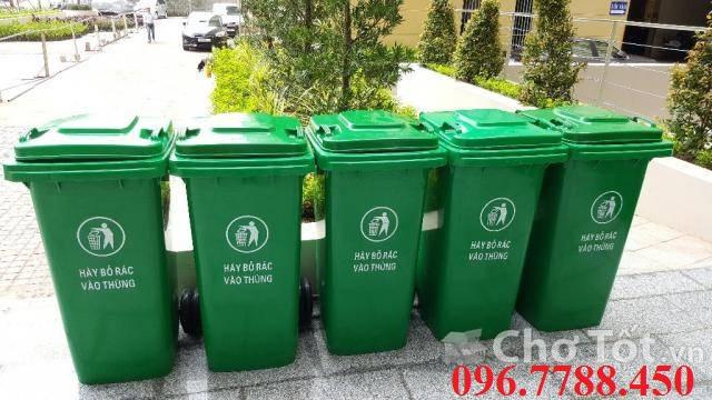 Thùng rác nhựa 240 lít, thùng rác công cộng, thùng rác môi trường call 096.7788.450