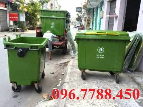 Bán thùng rác nhựa 660 lít, thùng rác công cộng 660 lít call 096.7788.450