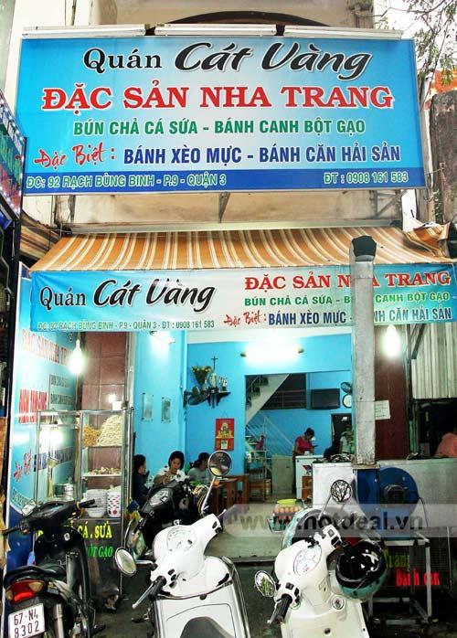 Quán ăn đặc sản Nha Trang - Cát Vàng -